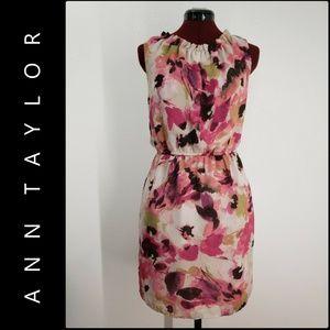 Loft Ann Taylor Woman Sleeveless Floral Dress Sz 0